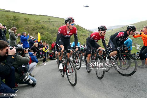 Ian Stannard of United Kingdom and Team INEOS / Owain Doull of United of Kingdom and Team INEOS / Leonardo Basso of Italy and Team INEOS / Cote de...