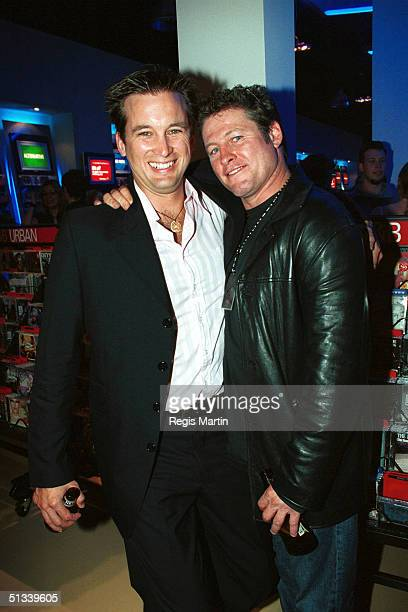APRIL 2002 Ian Stenlake and Peter Phelps The party for the launch of the new Virgin Megastor in MelbourneThe Virgin Megastore in Melbourne's Jam...