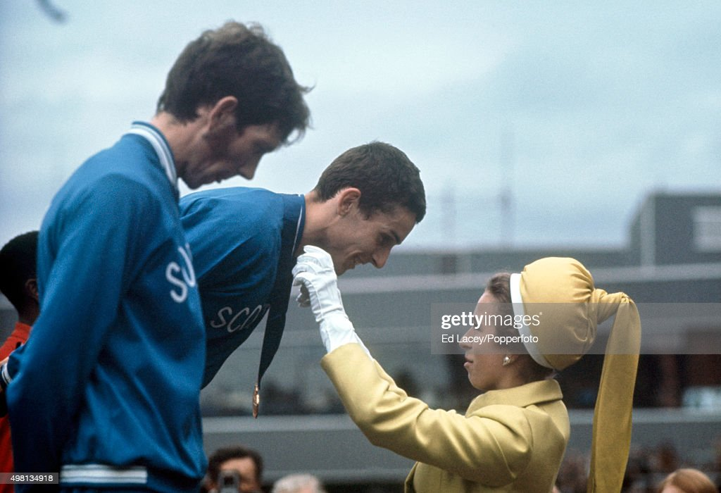 Ian Stewart With Princess Anne - British Commonwealth Games : News Photo