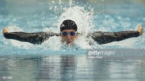 Ian Thorpe of Australia in action in the 200m individual medley heats during the Telstra Australian Championships at the Sydney International Aquatic...
