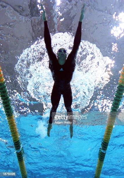 Ian Thorpe of Australia in action in the mens 200m individual medley semi final during the Telstra Australian Championships at the Sydney...