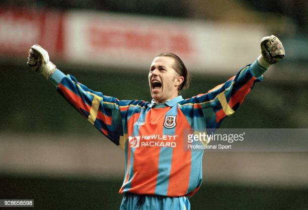 Ian Walker of Tottenham Hotspur celebrates a victory circa 1998