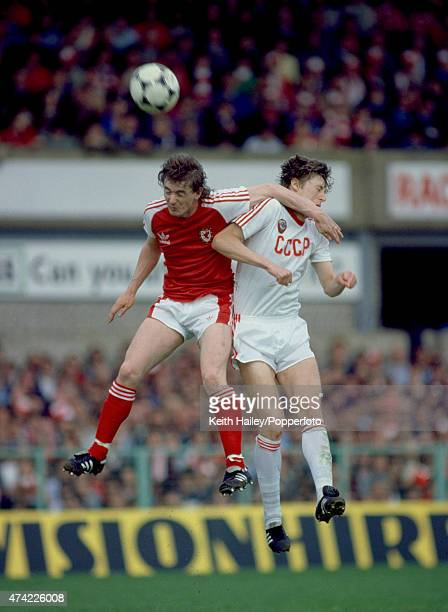 Ian Walsh in action for Wales against the USSR in the World Cup qualifying match at the Racecourse Ground in Wrexham 30th May 1981 The match ended in...