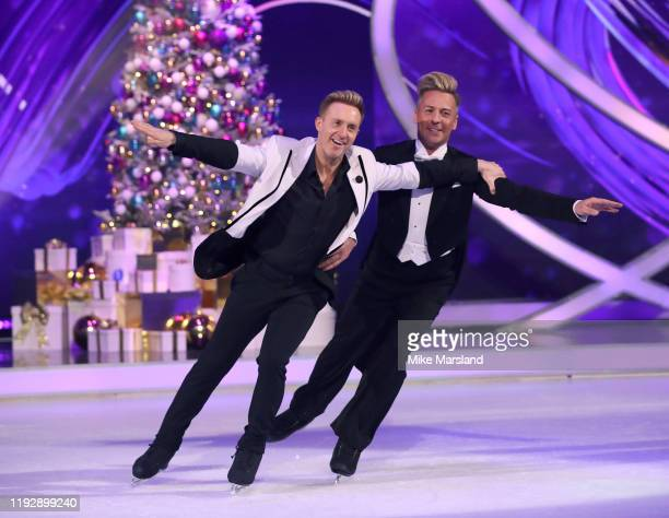 Ian Watkins amd Matt Evers during the Dancing On Ice 2019 photocall at ITV Studios on December 09 2019 in London England
