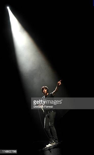 Ian Watkins of Lost Prophets during Lost Prophets in Concert at Manchester Evening News Arena April 19 2007 at Manchester Evening News Arena in...