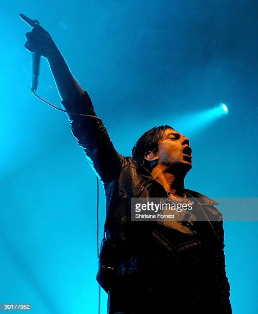 Ian Watkins of Lostprophets performs at Day 2 of The Leeds Festival on August 29 2009 at Bramham Park in Leeds England