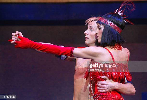"""Ian Watkins with Paulina Doncel during H Makes his West End Debut in """"Joseph and the Amazing Technicolor Dreamcoat"""" at The New London Theatre in..."""