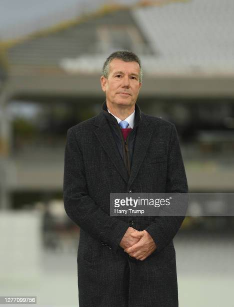 Ian Watmore, Chairman of the ECB looks on during Day Five of the Bob Willis Trophy Final match between Somerset and Essex at Lord's Cricket Ground on...