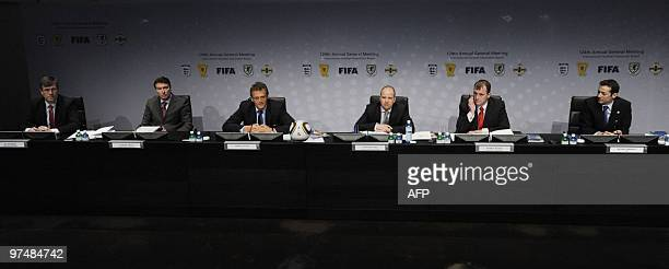 Ian Watmore English Football Association Gordon Smith Scottish Football Association Jerome Valcke secretary general of the FIFA Jonathan Ford Welsh...