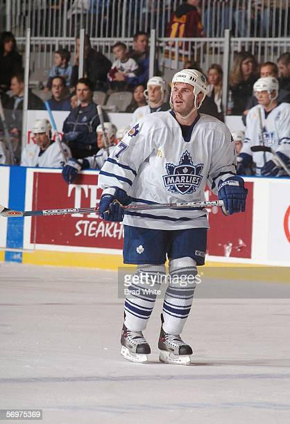 Ian White of the Toronto Marlies skates against the Peoria Rivermen at Ricoh Coliseum on February 3 2006 in Toronto Ontario Canada The Rivermen won 64
