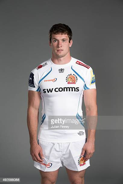 Ian Whitten of Exeter Chiefs poses for a picture during the Exeter Chiefs photocall for BT at Sandy Park Stadium on September 8 2015 in Exeter England