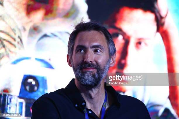 Ian Whyte attends Warsaw Comic Con opening at PTAK Warsaw Expo Center.