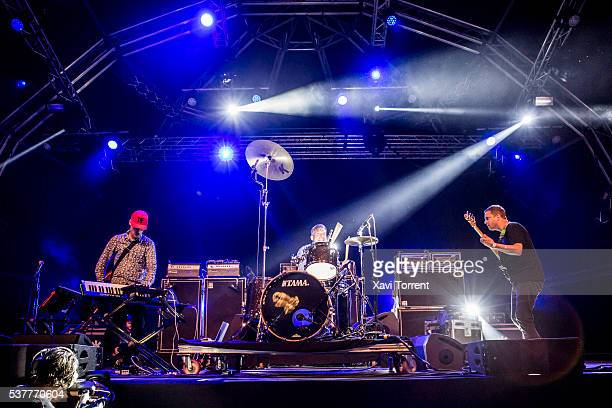 Ian Williams John Stanier and Dave Konopka of Battles perform in concert during the second day of Primavera Sound 2016 on June 2 2016 in Barcelona...