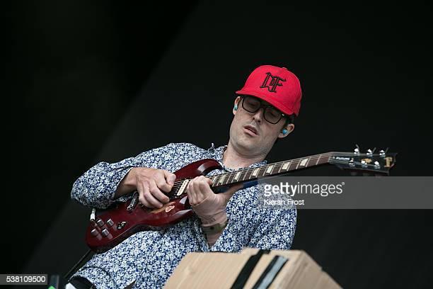 Ian Williams of Battles performs at Bulmers Forbidden Fruit Festival at Irish Museum Of Modern Art on June 4 2016 in Dublin Ireland