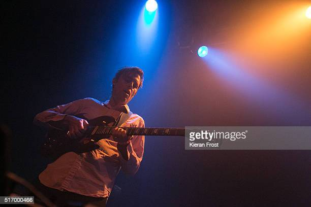 Ian Williams of Battles performs at the Button Factory on March 22, 2016 in Dublin, Ireland.