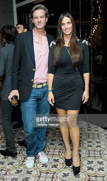 Ian Wood and Amanda Braun attend Seu Jorge Private Concert at Palihouse Holloway on August 13 2010 in West Hollywood California