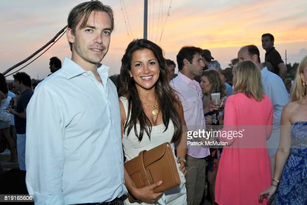 Ian Woods and Gigi Stone attend Celebrating Dylan Lauren as new contributing editor to Self Magazine on July 17 2010 in Montauk NY