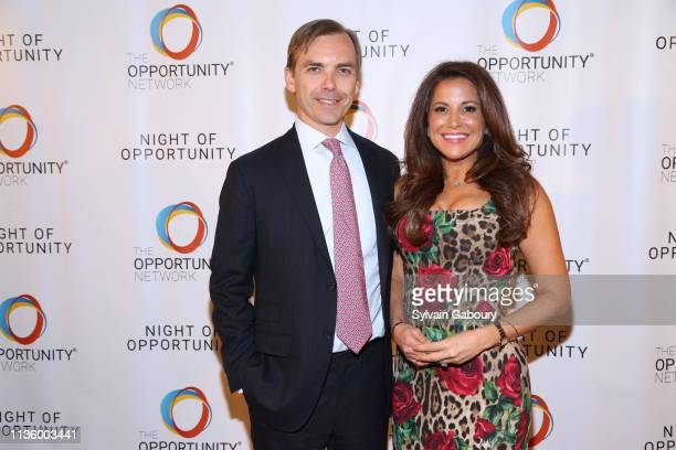 Ian Woods and Gigi Stone Woods attend 12th Annual Night Of Opportunity Gala at Cipriani Wall Street on April 8 2019 in New York City