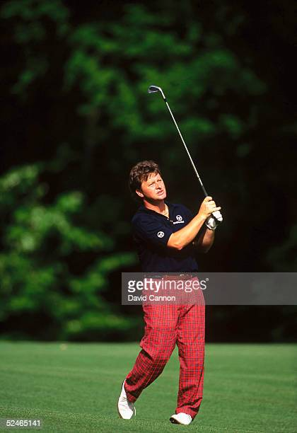 Ian Woosnam of Wales during the final round of the Masters held at The Augusta National Golf Club on April 14 1991 in Augusta GA