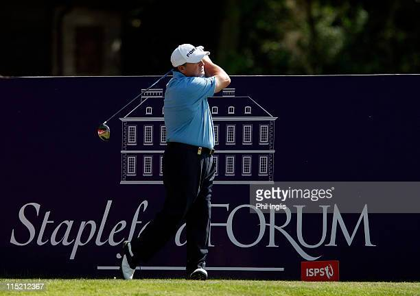Ian Woosnam of Wales in action during the second round of the Handa Senior Masters presented by the Stapleford Forum played at Stapleford Park on...