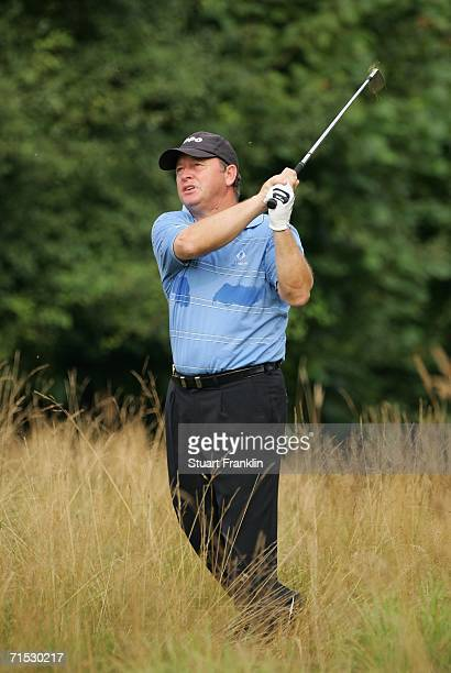 Ian Woosnam of Wales plays his approach shot on the 15th hole during the second round of The Deutsche Bank Players Championship of Europe at Gut...