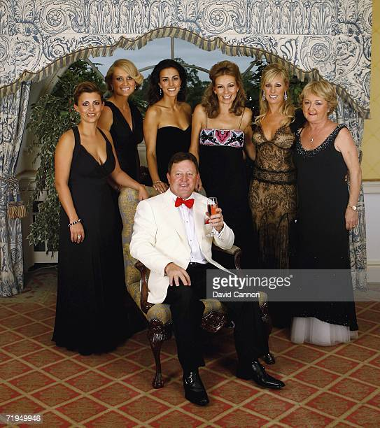 Ian Woosnam poses with Laurae Westwood Morgan Norman Diane Antonopoulos Alison McGinley Caroline Harrington and Glendryth Woosnam for a photograph...