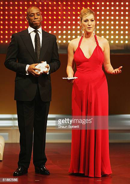 Ian Wright and Kelly Dalglish present the FIFA Centenial World Player Gala 2004 at the Zurich Opera House on December 20 2004 in Zurich Switzerland