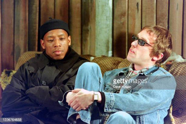Ian Wright and Simon Fowler of Ocean Colour Scene record the video for the single On Top of the World England's official song for the 1998 Fifa World...