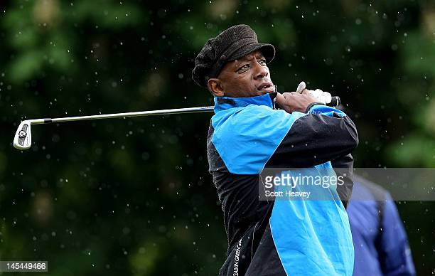Ian Wright during a Vauxhall Golf Day for the England Football team at The Grove Hotel on May 30 2012 in Hertford England