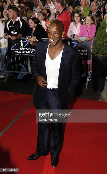 Ian Wright during The Northern Rock All Star Charity Gala Red Carpet at Celtic Manor Resort in Newport Great Britain