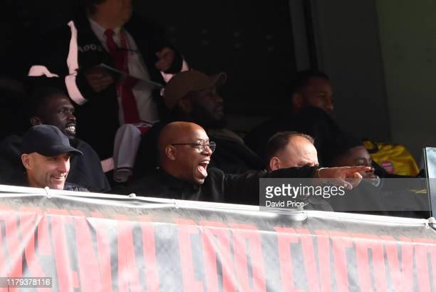 Ian Wright ex Arsenal during the Premier League match between Arsenal FC and AFC Bournemouth at Emirates Stadium on October 06 2019 in London United...