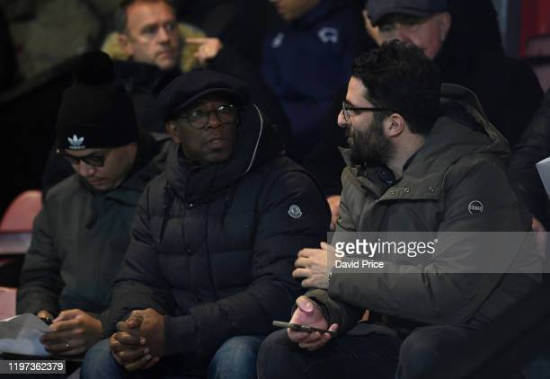 Ian Wright former Arsenal player in the stands during the Premier League 2 game between Arsenal FC and Derby County at Meadow Park on January 03 2020...