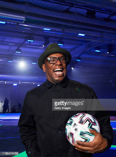 Ian Wright is pictured at the launch of adidas Uniforia – the Official Match Ball for UEFA EURO2020TM at The Mail Centre in Vauxhall London...