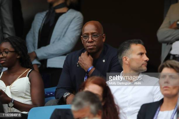 Ian Wright looks on during the 2019 FIFA Women's World Cup France Quarter Final match between Norway and England at Stade Oceane on June 27 2019 in...