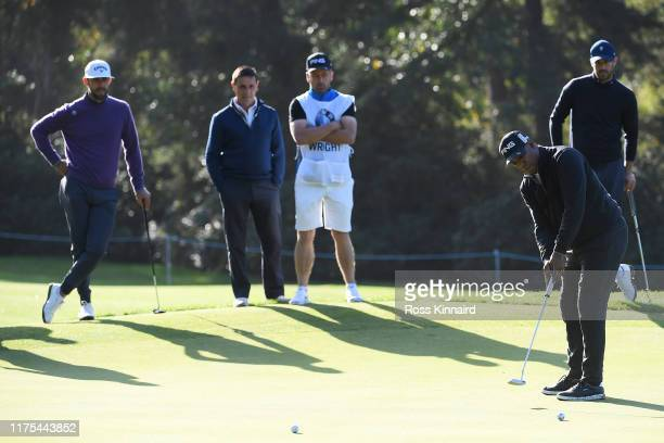 Ian Wright putts during the ProAm tournament prior to the start of the BMW PGA Championship at Wentworth Golf Club on September 18 2019 in Virginia...