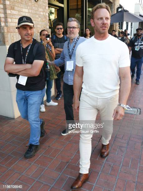 Ian Ziering and Anthony C. Ferrante are seen on July 19, 2019 in San Diego, California.