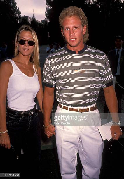 Ian Ziering and date at the An Evening at the Net Benefit Los Angeles Tennis Center at UCLA Westwood
