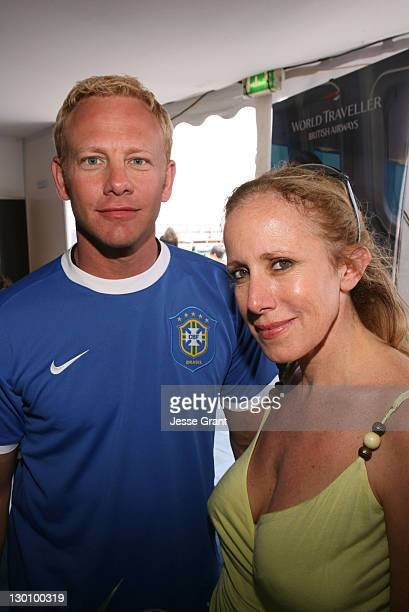 Ian Ziering and Elana Krausz during 2006 Cannes Film Festival American Pavillion Day 5 at American Pavillion in Cannes France