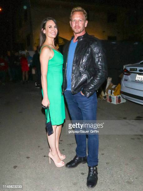 Ian Ziering and Erin Kristine Ludwig are seen on May 23 2019 in Los Angeles California