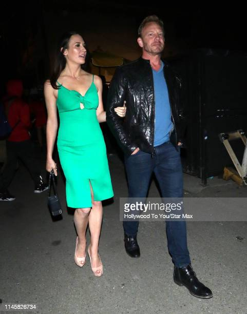 Ian Ziering and Erin Kristine Ludwig are seen on May 23 2019 in Los Angeles