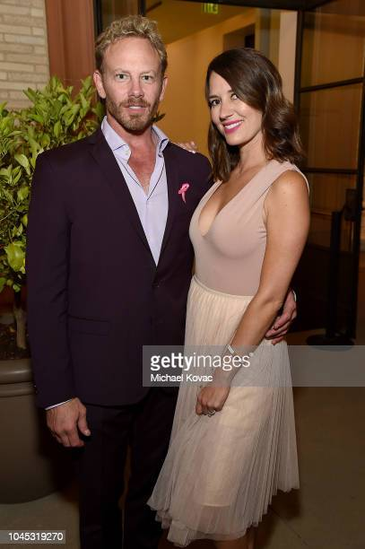 Ian Ziering and Erin Kristine Ludwig attend BCRF Presents LA GOES PINK on October 3 2018 in Beverly Hills California