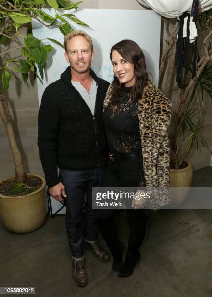 Ian Ziering and Erin Kristine Ludwig attend the Margot Los Angeles Rooftop Restaurant Opening at Platform at on January 17 2019 in Culver City...