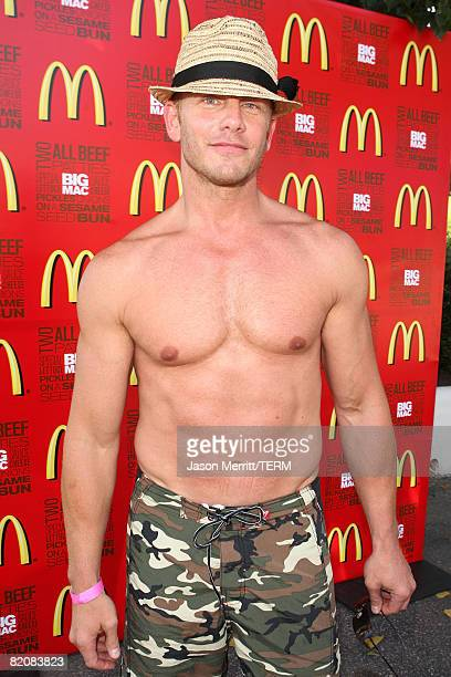 Ian Ziering at the McDonald's Big Mac 40th Birthday Party at Project Beach House in Malibu CA on July 27 2008