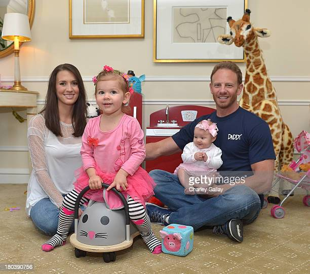 Ian Ziering celebrates being named Daddy of the Year and the new Ambassador Of DaddyScrubs with his wife Erin Ludwig and daughters Mia Ziering and...