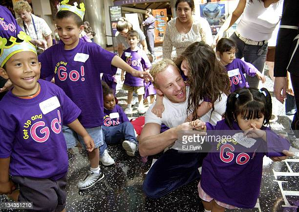 Ian Ziering during Ian Ziering Helps Kick Off Teletubbies Get Up and Go National Excercise Program in Orange California United States