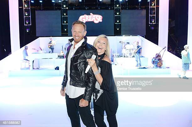 Ian Ziering during rehearsal with Olivia NewtonJohn for her show Summer Nights at the Flamingo Las Vegas on July 1 2014 in Las Vegas Nevada