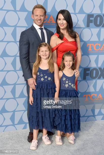 Ian Ziering Erin Kristine Ludwig Mia Loren Ziering and Penna Mae Ziering arrive at the FOX Summer TCA 2019 AllStar Party at Fox Studios on August 7...