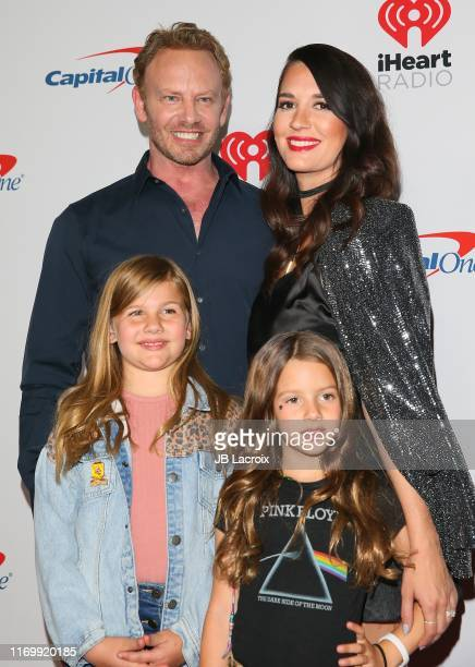Ian Ziering Erin Kristine Ludwig Mia Loren Ziering and Penna Mae Ziering attend the 2019 iHeartRadio Music Festival at TMobile Arena on September 20...