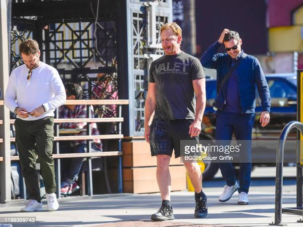 Ian Ziering, Jason Priestley and Brian Austin Green are seen on February 08, 2020 in Los Angeles, California.