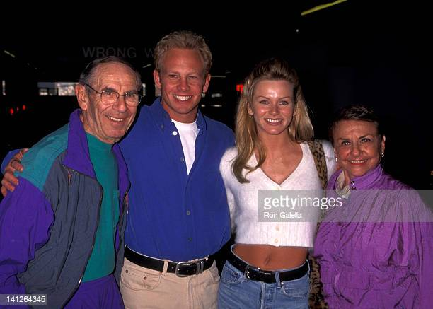 Ian Ziering Nikki Schieler parents Paul Ziering and Micki Ziering at the Traffic Studio Clothing Store Benefit for the Los Angeles Mission Beverly...